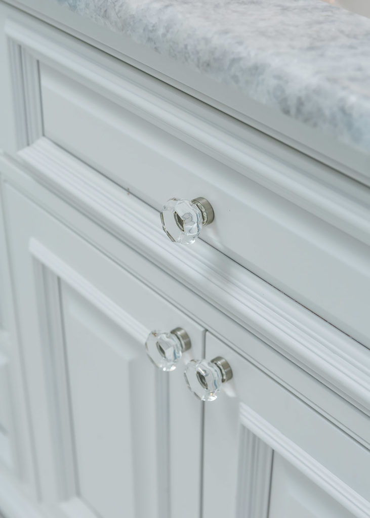 Highpoint Master Bathroom Crystal Knobs