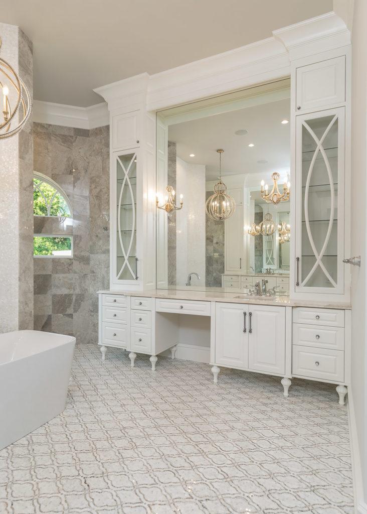 Elegant White Master Bath Vanity