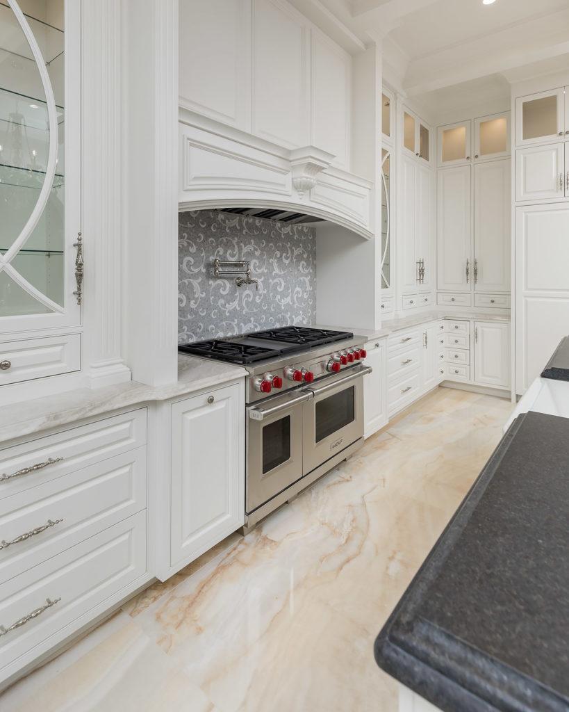 Elegant White Kitchen Hood