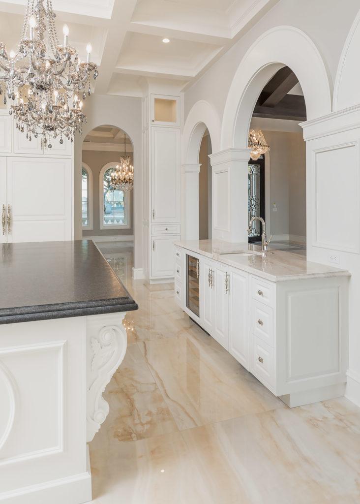 Elegant White Kitchen Side Bar