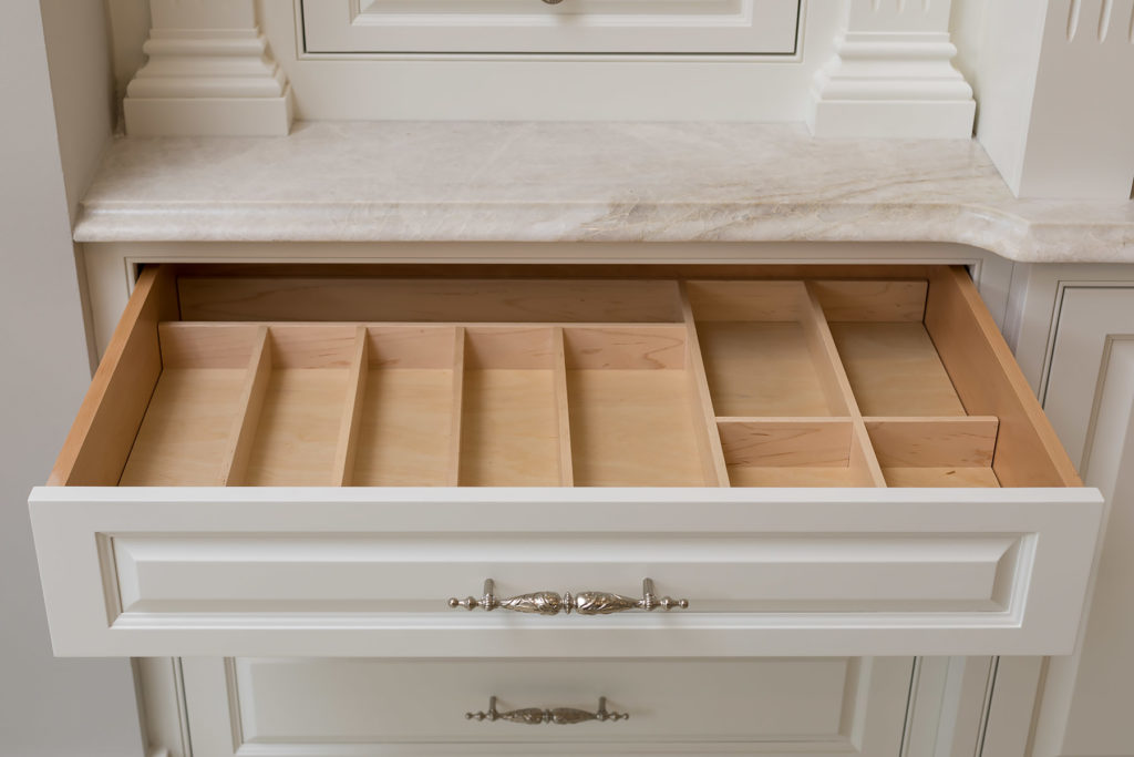 White Utensil Drawer