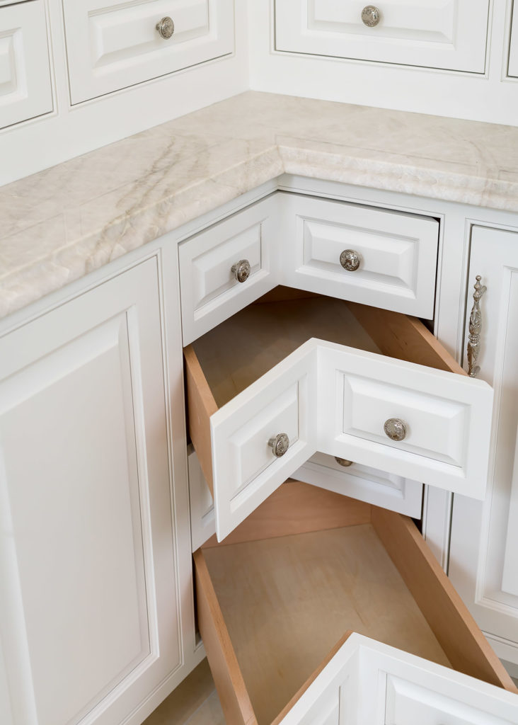 White Corner Drawers