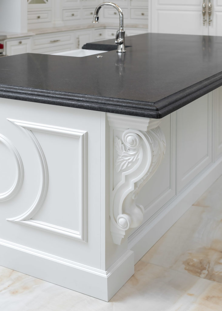 Elegant White Kitchen Island