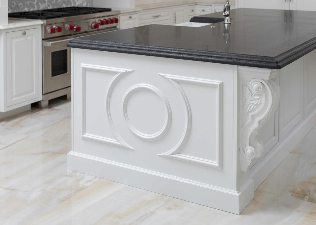 Elegant White Kitchen Island