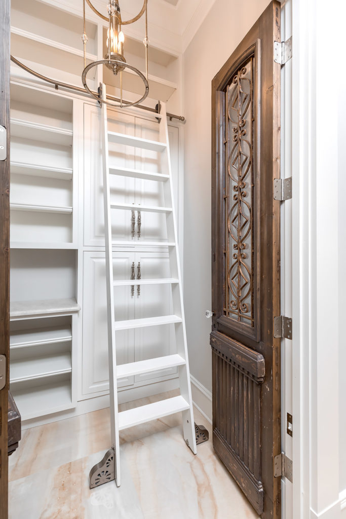 White Pantry with Ladder