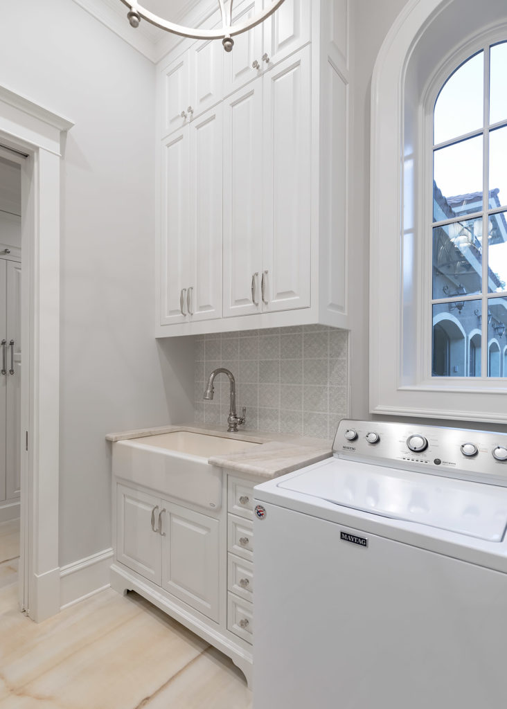 White Laundry Room Sink