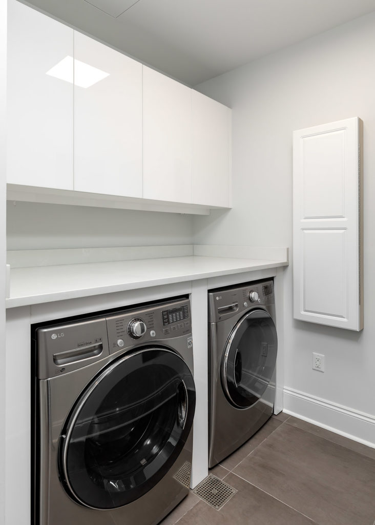Palafox White Laundry Room