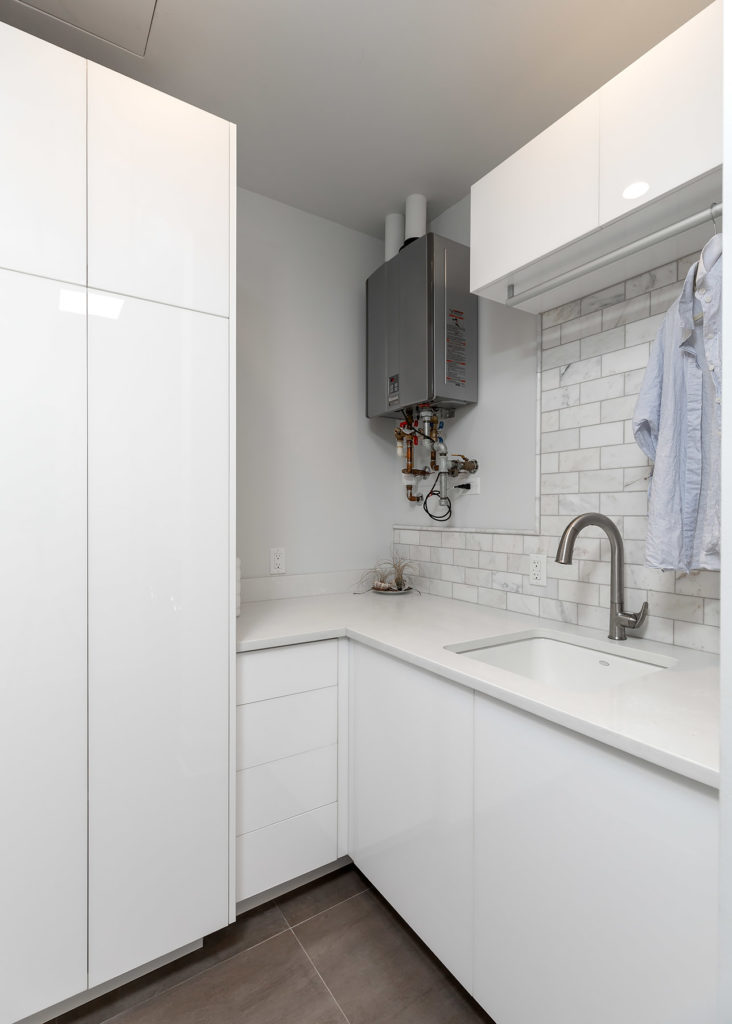 Palafox White Laundry Room Cabinets