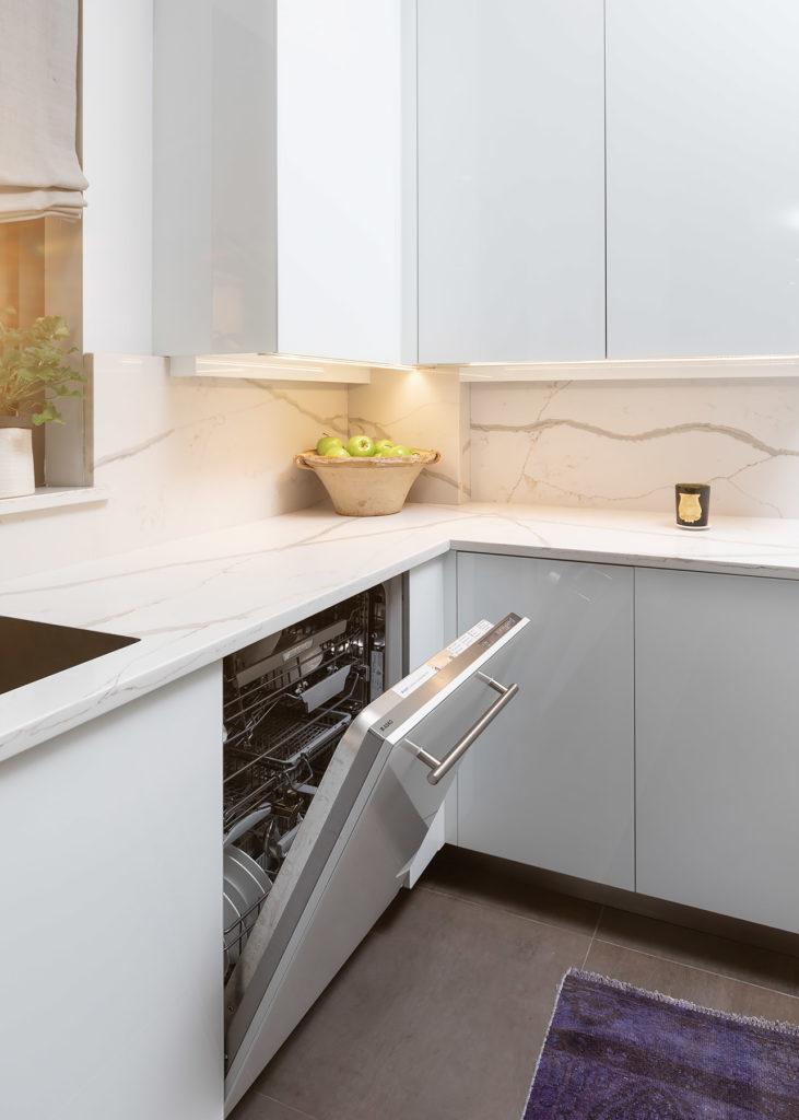 White Panel Dishwasher