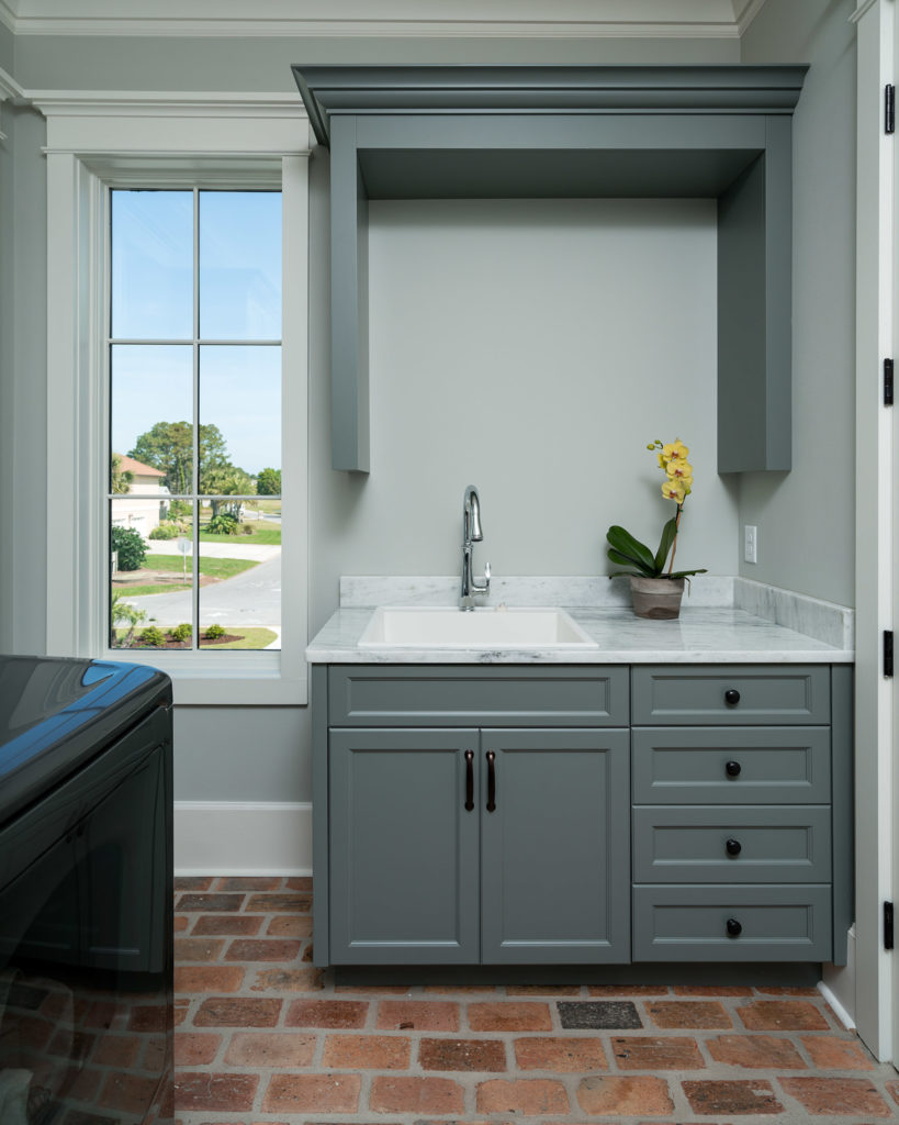 Blue Bayfront Laundry Room