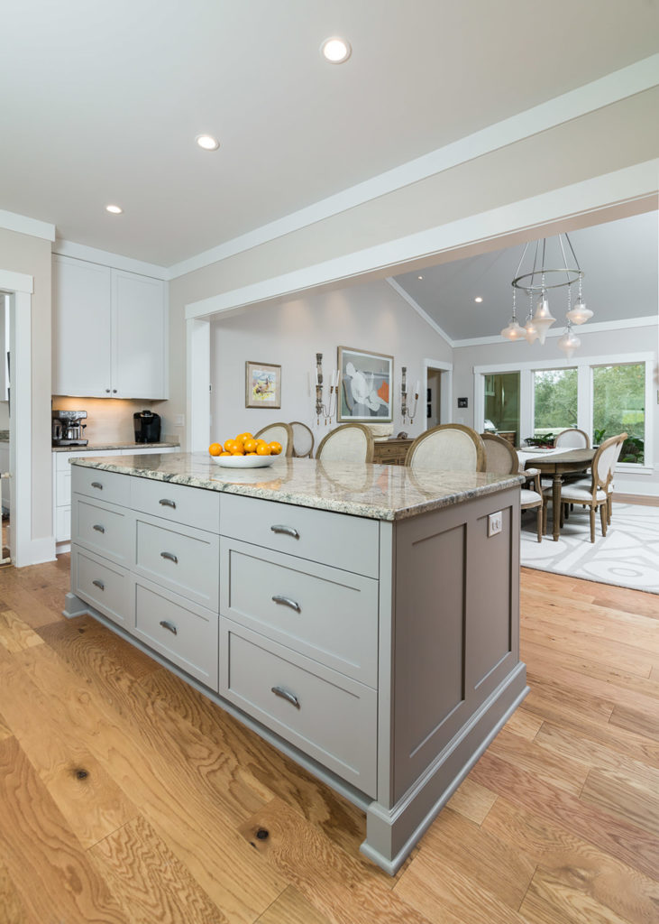 Lundy Gray Kitchen Island