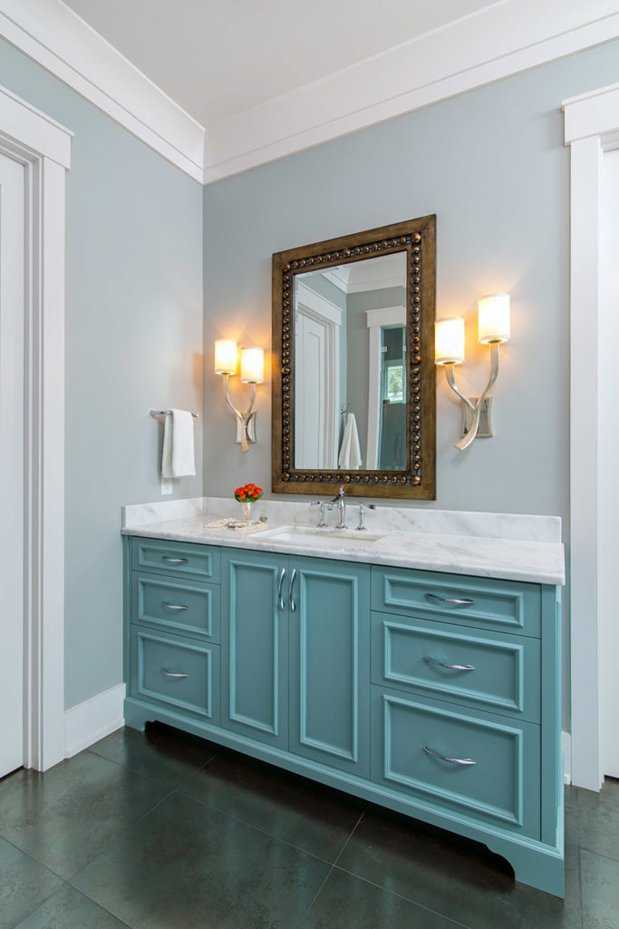 Green Hut Blue Vanity