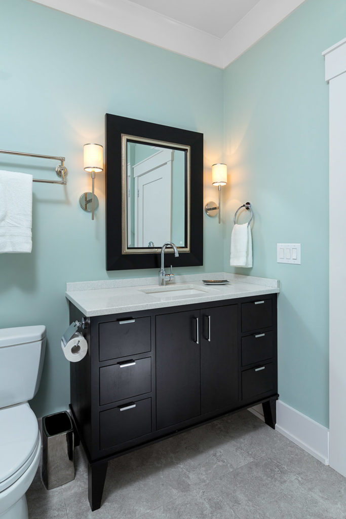 Green Hut Black Vanity