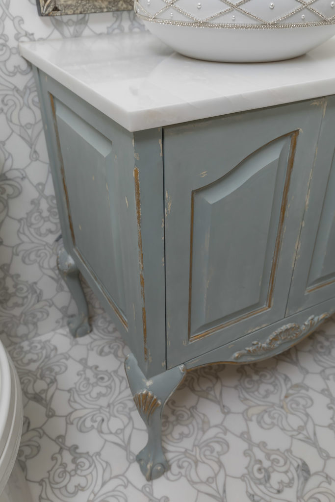 Custom Antique Blue Vanity