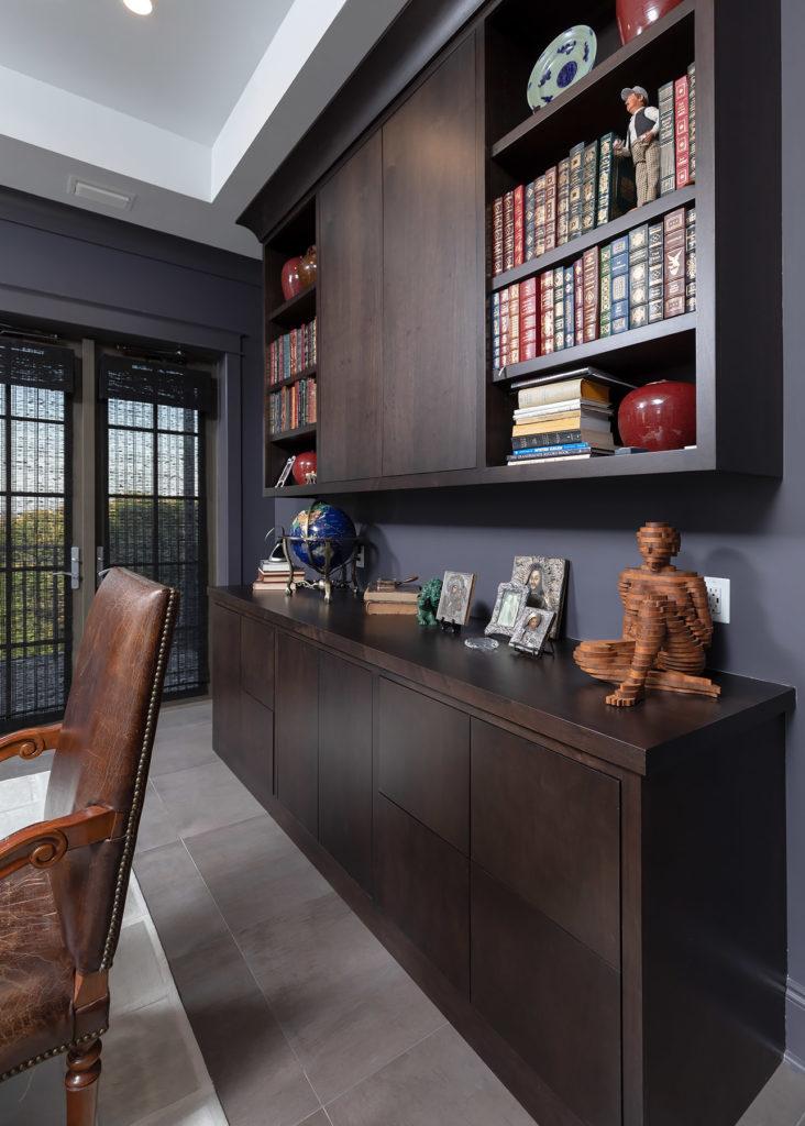 Custom Dark Stained Office Cabinet