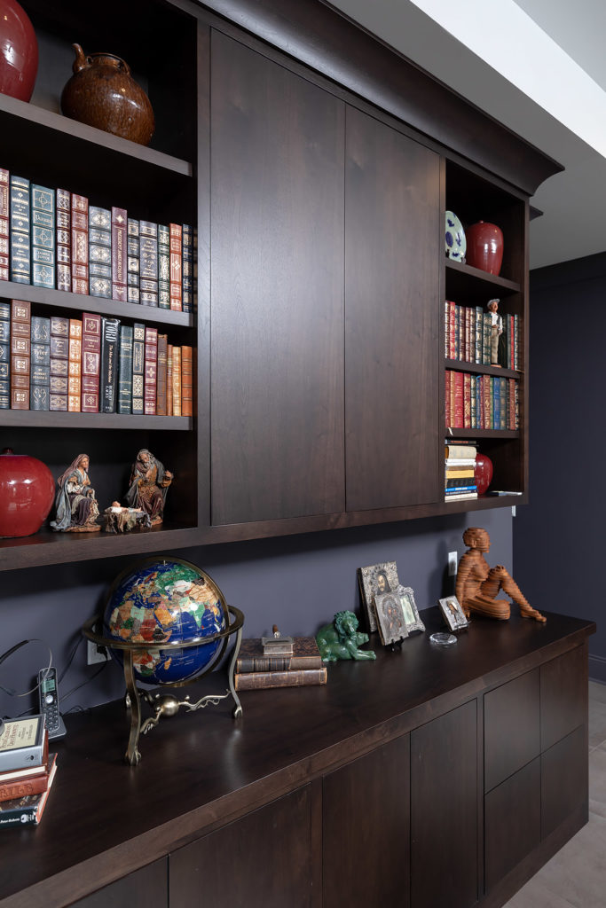 Custom Dark Stained Office Cabinet