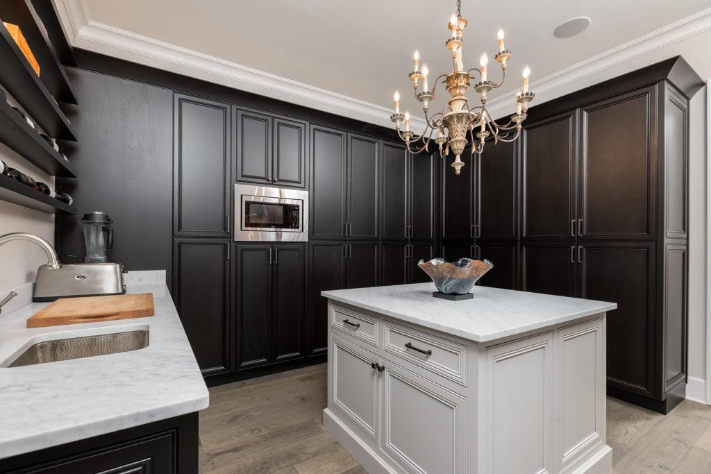 Dark and Light Kitchen Pantry
