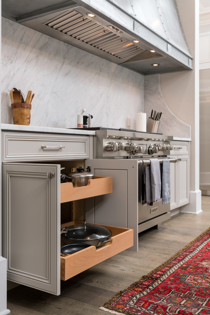 Kitchen Stove Top Storage