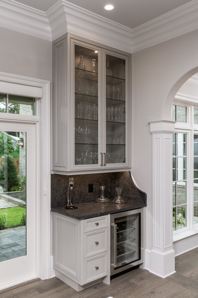 White and Black Wet Bar