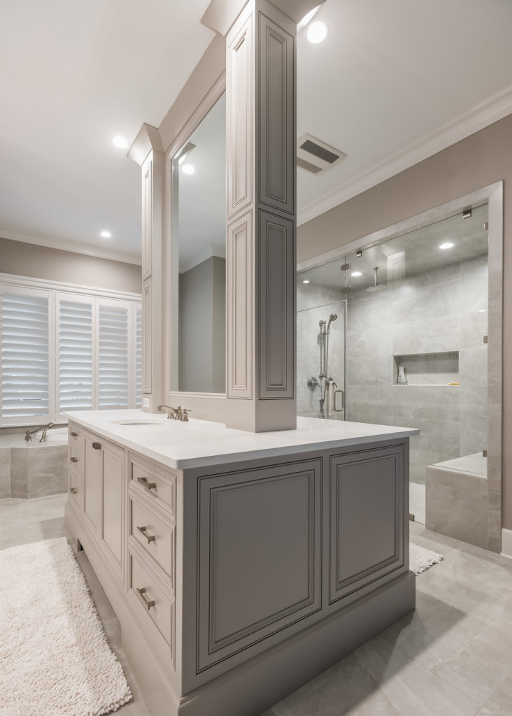 Master Bathroom Island Vanity