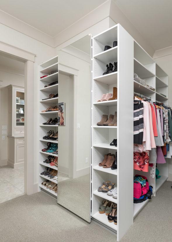 Master Closet, White cabinets, Storage, Closet