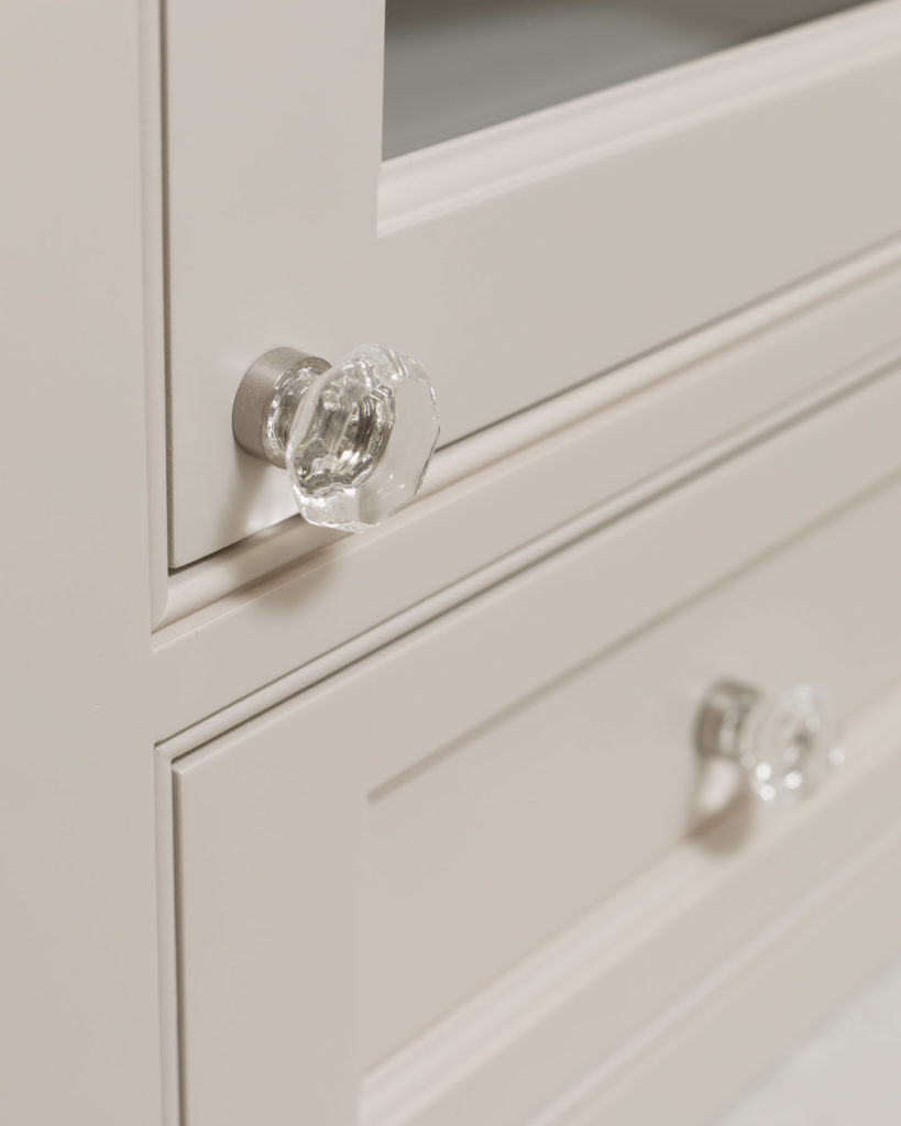 Creary Master Bathroom Crystal Knobs