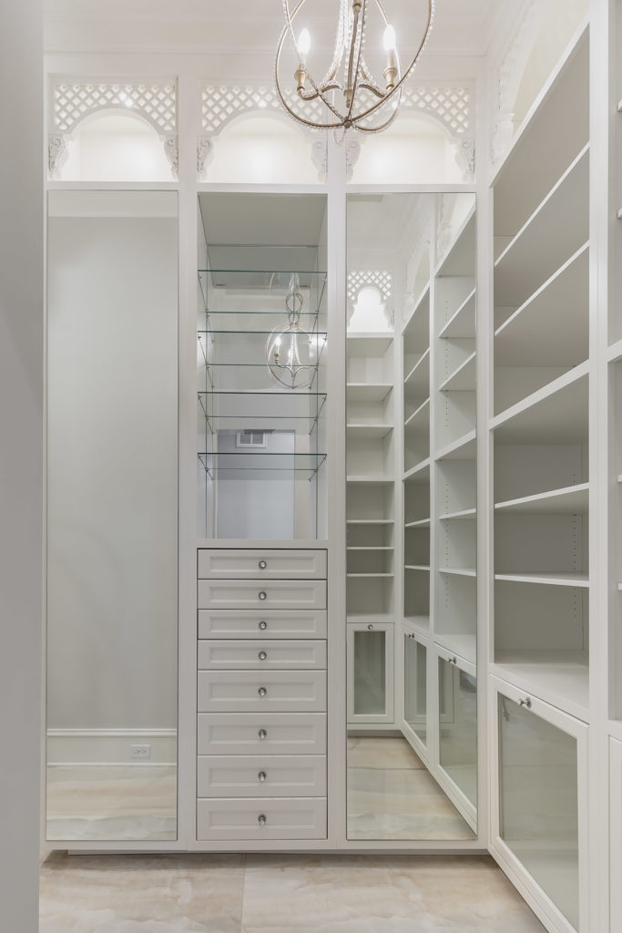 Elegant White Closet Entrance