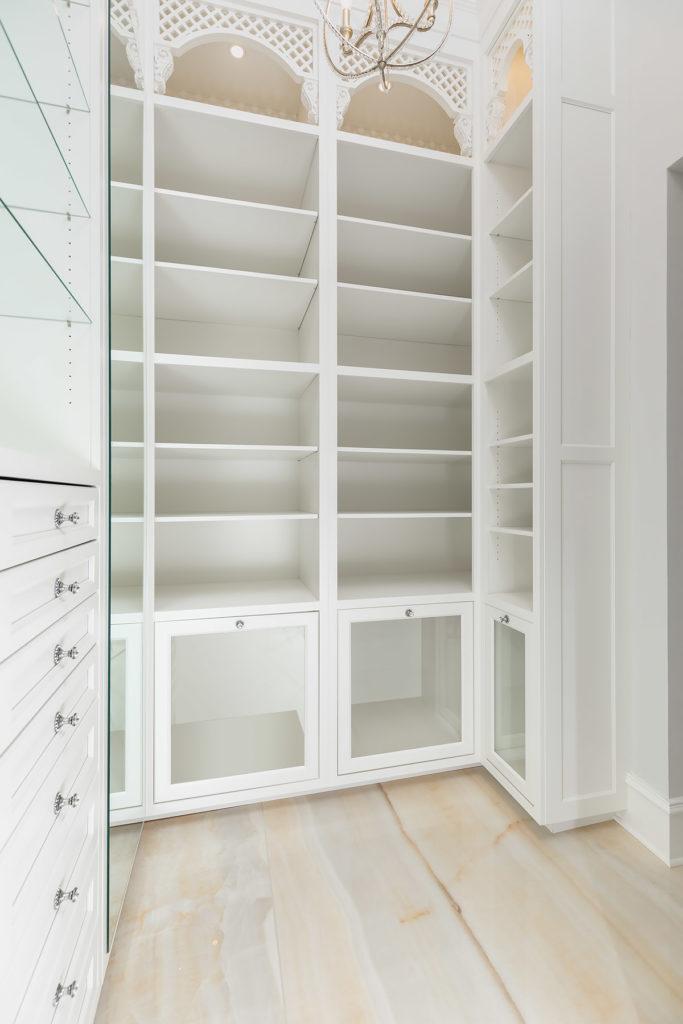 Elegant White Master Closet