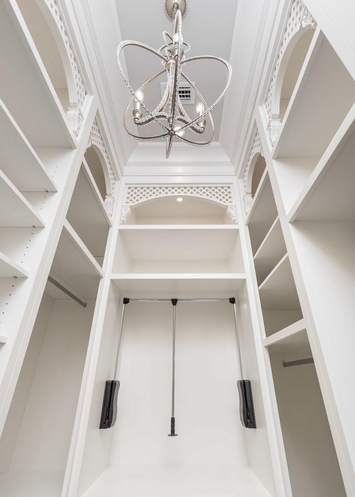 Elegant White Closet Hafele  Wardrobe lift