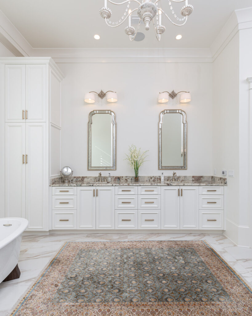 White & Gold Master Bathroom