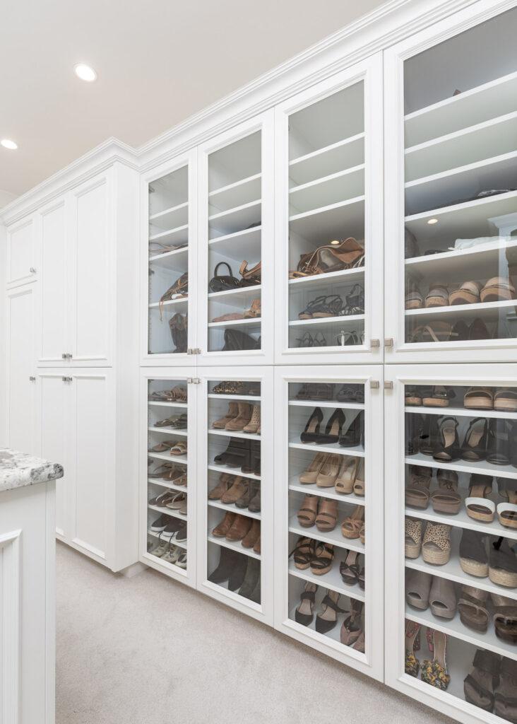 Master Closet Shoe Shelves